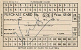Wartime Civilian Control Agency (WCCA) Purchase Card for families relocated to internment camps,...
