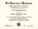 Honorary Baccalaureate Degree presented to Gordon Hirabayashi from the 2011 University of...