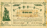 Seattle and Walla Walla Railroad and Transporation Company stock certificate issued to Bailey...