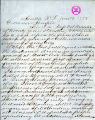 D.P. Pierce letter to Washington Territory Governor Semple regarding women's suffage, January 19 ,...