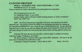 "Flier advertising ""Clinton Protest"", November 19, 1993"