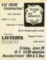 Festival of Gay Liberation flier, ca. 1971-1974