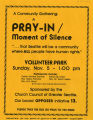 Community Gathering: A Pray-In/Moment of Silence against Initiative 13, 1978