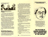 Petition of Gordon Hirabayashi: Civil Liberties Case of the Century Pamphlet, 1984