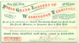 First Grand Lottery of Washington Territory ticket, July 4, 1876