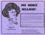 No More Miamis, Margaret Trowe for Mayor flier, ca. 1978-1981