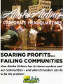 Brochure detailing Working Washginton complaints against Alaska Airline corporate headquarters,...