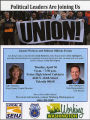 Flier for a community forum with local political leaders Julia Patterson and Dave Upthegrove and...