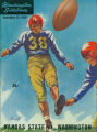 Football program, Kansas State vs. Univesrity of Washington, UW Stadium, September 23, 1950