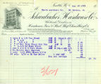 Schwabacher Hardware Company receipt for goods purchased by the Davis Hardware Company, March 30,...