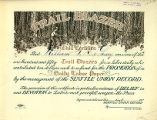 """Trail Blazer"" certificate issued to William F. DeLaney by the Seattle Union Record, ca...."