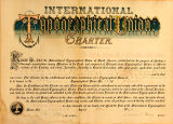 International Typographical Union charter for Local #142 in Olympia, Washington, dated April 18,...