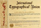 International Typographical Union charter for Local #699 in Bremerton, Washington, dated July 9,...