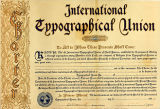 International Typographical Union charter for Local #355 in New Whatcom and Fairhaven, Washington,...