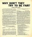 "Everett Labor Journal reprint of an article entitled ""Why Don't They Try To Be Fair?"",..."