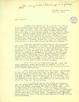 Russell Earley letter to William C. Ruegnitz regarding divisions within the labor movement, July...