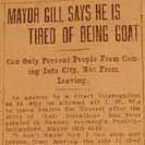 062. Mayor Gill Says He is Tired of Being Goat