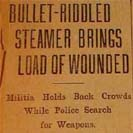 068. Bullet-riddled steamer brings load of wounded