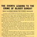 Events Leading to the Crime of Bloody Sunday
