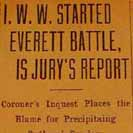 081. I.W.W. Started Everett Battle, is Jury's Report