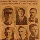 080. Members of Everett Citizens' Committee Killed and Injured in Battle with I.W.W.
