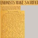 014. Unionists Make Sacrifices