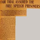 031. Fair Trial Assured the Free Speech Prisoners