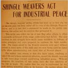 007. Shingle Weavers Act For Industrial Peace