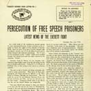 040. Persecution of Free Speech Prisoners, latest news of the Everett fight