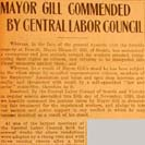 010. Mayor Gill Commended by Central Labor Council