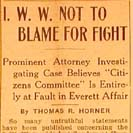 002. I.W.W. Not to Blame for Fight