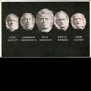 Death masks of five victims in Everett Massacre