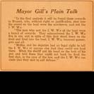 005. Mayor Gill's Plain Talk