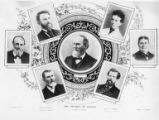 Founders of Seattle composite photograph with William N. Bell, David T. Denny, Carson D. Boren,...