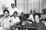 Carlos Bulosan and Chris Mensalvas with Union workers, ca. 1950s