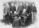 David Francis Byles and wife, Mary Jane Hill with five of their sons, ca. 1880s