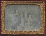 Daguerreotype of likely family group, approximately 1839-1840