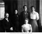 Edmond and Lizzie (Ward) Meany and members of the family, n.d.