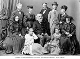 Henry Wadsworth Longfellow and family on European tour, ca. 1869