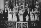 Irwin and Betty Hogenauer with wedding party, November 27, 1937