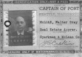 Port of Seattle identification card for Walter McLean, 1943