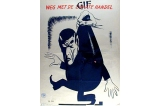 Weg met de zwarte handel poster, Occupied Netherlands, World War II
