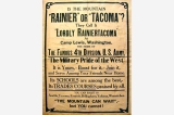 Rainier or Tacoma poster, United States, World War I?
