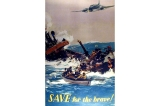 Save for the brave poster, Great Britain, World War II