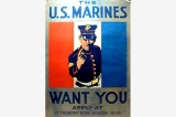 Marine recruiting poster, United States, World War I