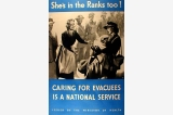 Caring for evacuees poster, Great Britain, World War II