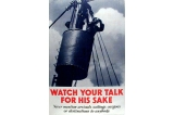 Watch your talk poster, Great Britain, World War II