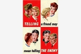 Telling the enemy poster, Great Britain, World War II