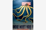 Indie moet vrij, Free the Dutch East Indies poster Great Britain, World War II