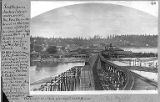 Columbia and Puget Sound Railway coal docks and Stetson and Post sawmill showing Beacon Hill in...